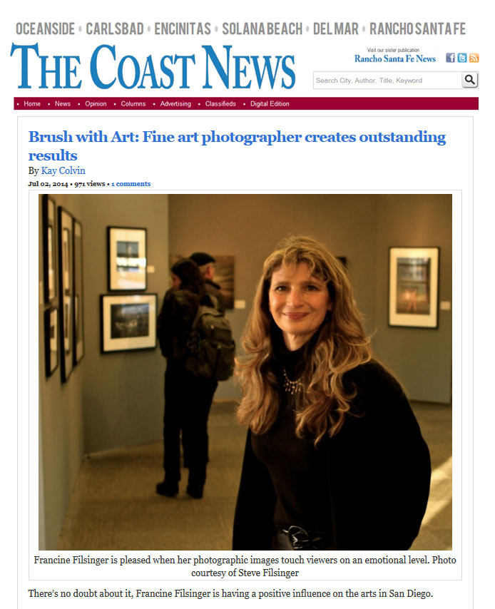 Francine Filsinger's interview from The Coast News